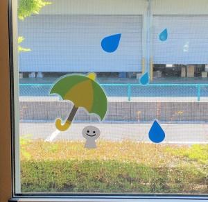 中待合室窓梅雨 (2)明るさ修正